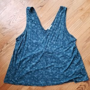 Old Navy Tank Top (Blue Floral)